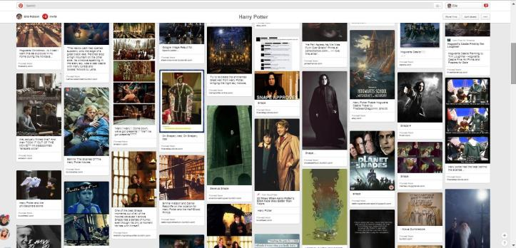 Here's my Harry Potter board on Pinterest... it's intense I tell ya!