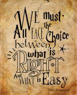 What is right and what is easy
