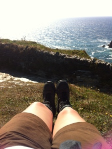 Walking the coastal path at Tintagel