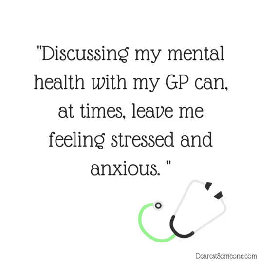 Speaking to my GP about mental health makes me anxious.