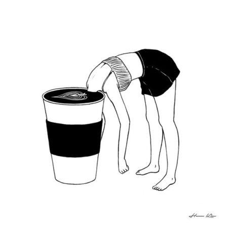 Coffee, First art by Henn Kim